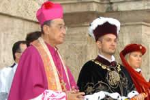 Le autorità, il Vescovo ed il Sindaco