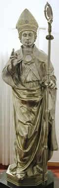 Statua di San Emidio in argento - Ascoli, Museo Diocesano