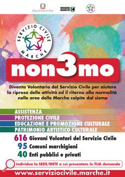 Bando di selezione per 616 volontari da impiegare nelle aree terremotate della Regione Marche - Scadenza 15 maggio 2017, ore 14:00