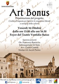 Presentazione Art Bonus