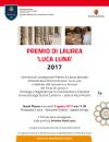 "Premio di Laurea ""Luca Luna"" 2017"