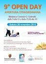 Locandina Open day insieme alle Biblioteche del Sistema Interprovinciale Piceno.