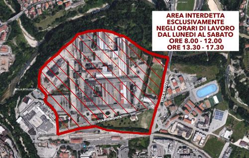 Mappa dell'area interessata dal provvedimento