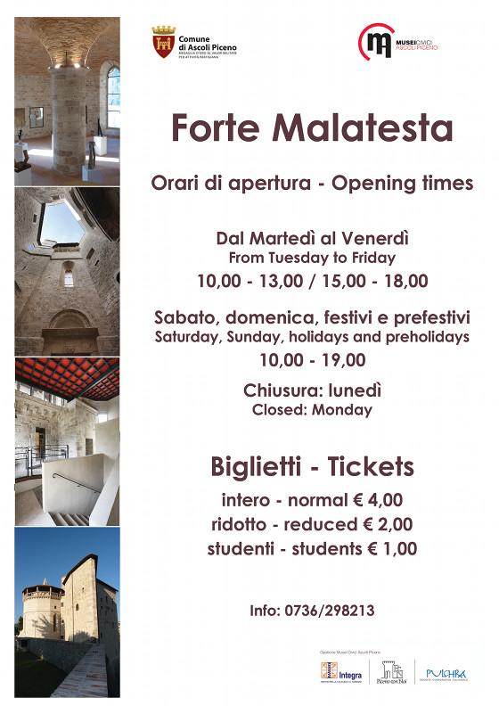 Nuovi orari di apertura dei Forte Malatesta