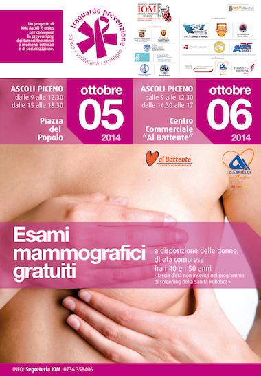 Esami mammografici gratuiti